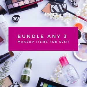 Bundle Any 3 Makeup Items for $25